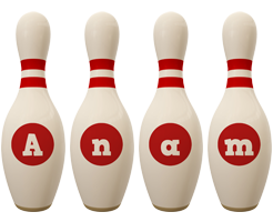 Anam bowling-pin logo