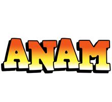 Anam sunset logo