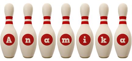Anamika bowling-pin logo