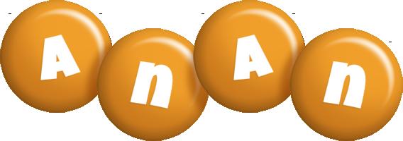 Anan candy-orange logo