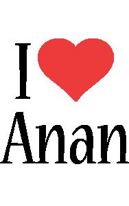 Anan i-love logo