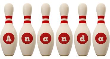Ananda bowling-pin logo