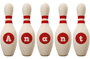 Anant bowling-pin logo