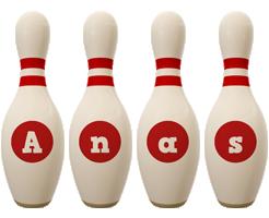Anas bowling-pin logo