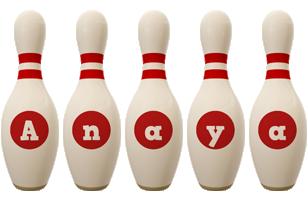 Anaya bowling-pin logo