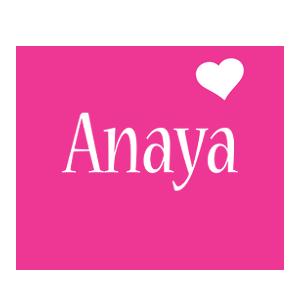 Anaya love-heart logo