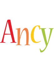 Ancy birthday logo