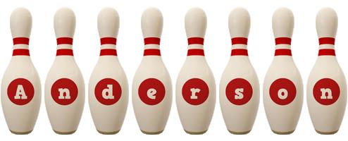Anderson bowling-pin logo