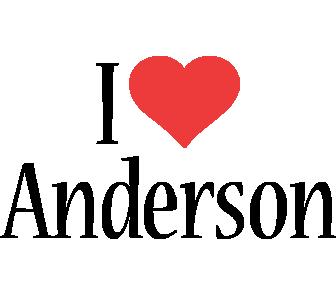 Anderson i-love logo