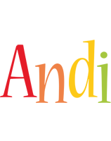 Andi birthday logo