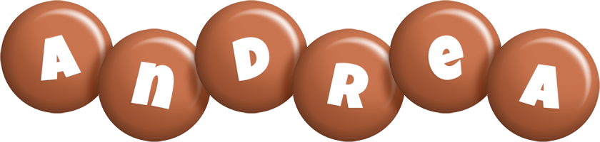 Andrea candy-brown logo