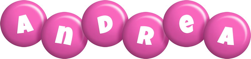 Andrea candy-pink logo