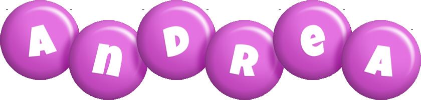 Andrea candy-purple logo