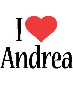 Andrea i-love logo