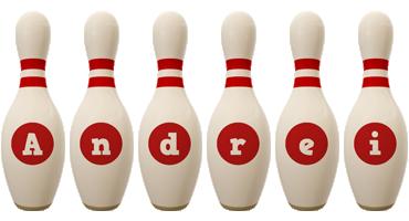 Andrei bowling-pin logo