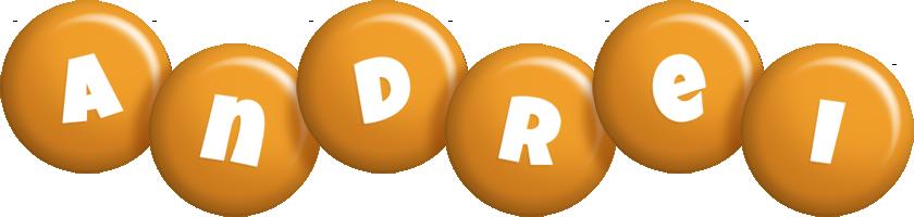 Andrei candy-orange logo