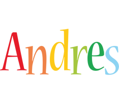 Andres birthday logo