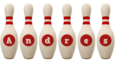 Andres bowling-pin logo