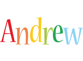 Andrew birthday logo