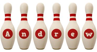 Andrew bowling-pin logo