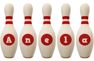 Anela bowling-pin logo