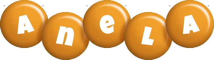 Anela candy-orange logo