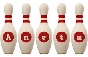 Aneta bowling-pin logo