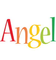 Angel birthday logo