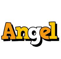 Angel cartoon logo