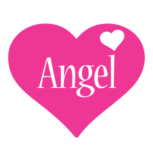Angel love-heart logo