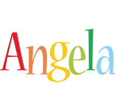 Angela birthday logo