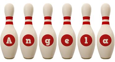 Angela bowling-pin logo
