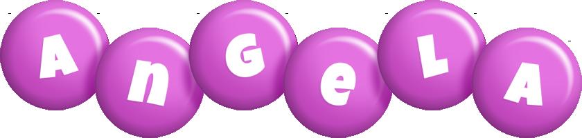 Angela candy-purple logo