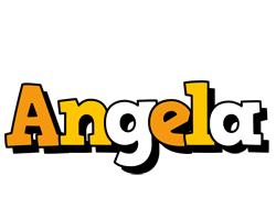 Angela cartoon logo