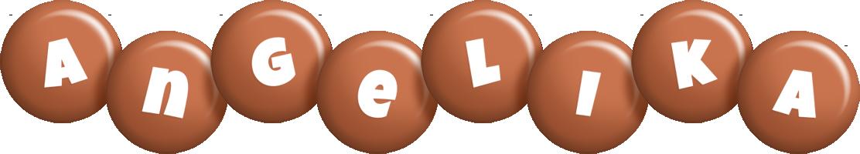 Angelika candy-brown logo