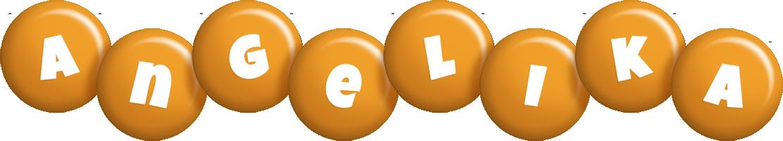 Angelika candy-orange logo