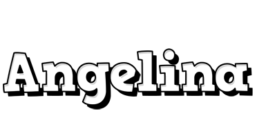 Angelina snowing logo