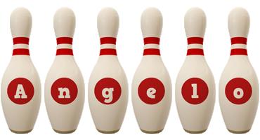 Angelo bowling-pin logo