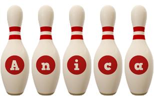 Anica bowling-pin logo