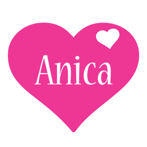 Anica love-heart logo