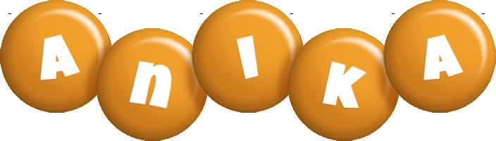 Anika candy-orange logo