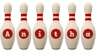 Anitha bowling-pin logo