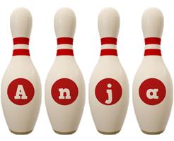 Anja bowling-pin logo