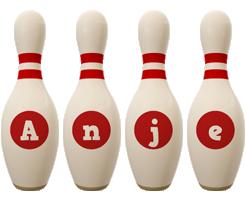Anje bowling-pin logo