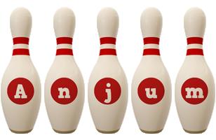 Anjum bowling-pin logo