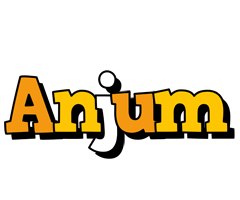 Anjum cartoon logo