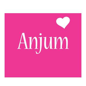 Anjum love-heart logo