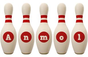 Anmol bowling-pin logo