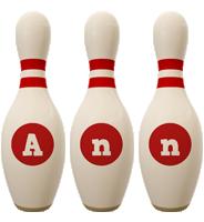 Ann bowling-pin logo