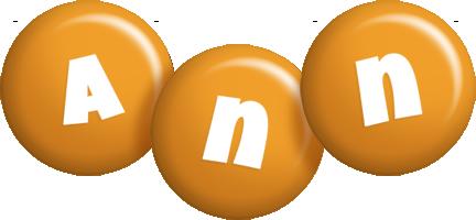 Ann candy-orange logo